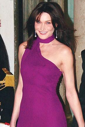 Carla Bruni-Sarkozy in Hermes.
