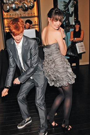 Will Blondell with Daisy Lowe in Burberry.