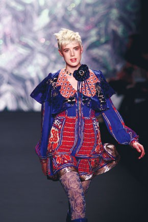 A runway look by Anna Sui.