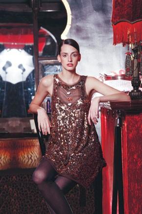 Touch Luxe's shining acrylic mesh dress.