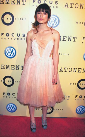 """Keira Knightley in Rodarte at the Los Angeles premiere of """"Atonement."""""""