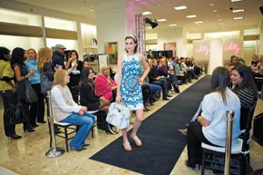 A look from the runway show at Neiman Marcus.