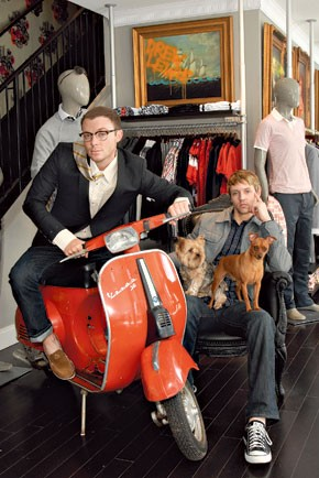 Drew Lewis owners David Gore (left) and Seth Kloss in their Midtown Atlanta store.
