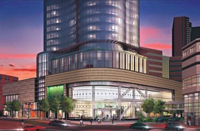 A rendering of the larger Neiman Marcus.