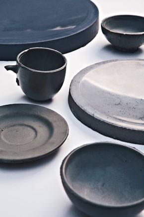 Alexa Lixfeld's concrete tableware.