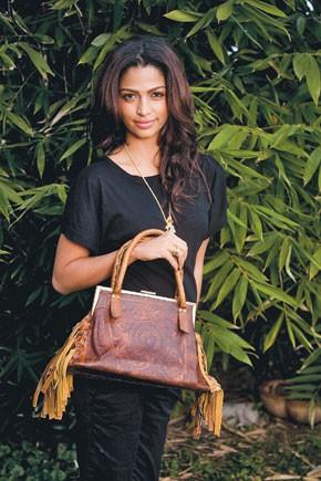 Camila Alves and her bag designs.