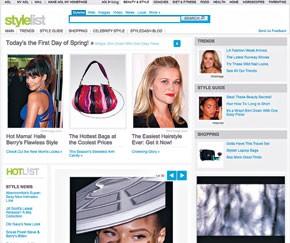 The Stylelist.com home page.