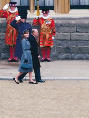 Carla Bruni-Sarkozy and Prince Philip.