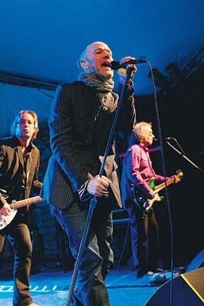 Michael Stipe performs at Stubb's Bar-B-Q.