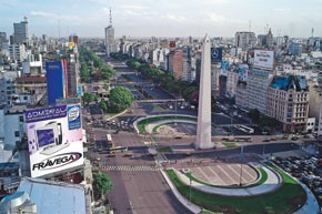 A view of Buenos Aires.