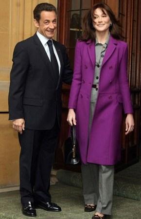 Nicolas Sarkozy and Carla Bruni-Sarkozy.