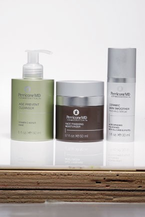 A trio of revamped PerriconeMD products.