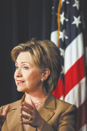 Presidential candidate Hillary Rodham Clinton
