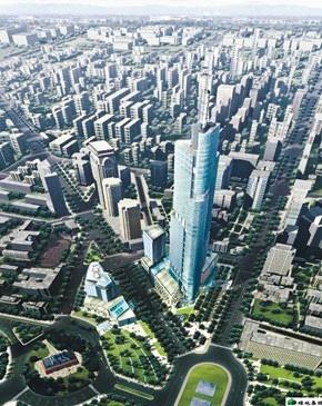 A rendering of Greenland Galleria in Nanjing, China.