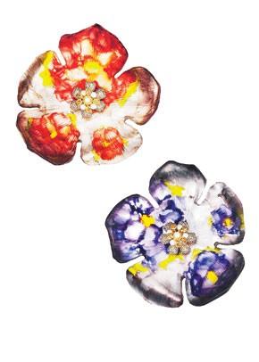 Alexis Bittar's signature Lucite jewelry.