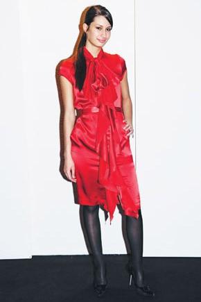 Michel Harcourt's satin dress.