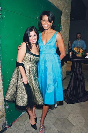 Maria Pinto and Michelle Obama