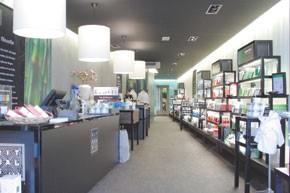 Inside a Rituals store.