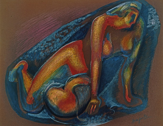 A painting by Russian artist Aleksandr Archipenko, which will be featured at the fair.