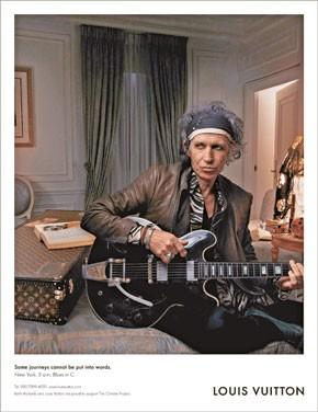 Keith Richards, Louis Vuitton's latest poster boy.