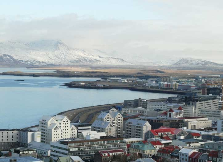 The city is home to two-third's of Iceland's population.