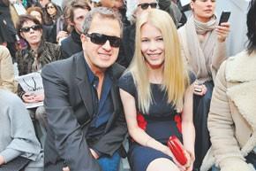 Mario Testino and Claudia Schiffer