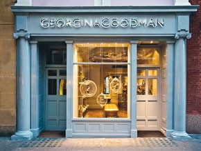 A view of Georgina Goodman's Old Bond Street store.