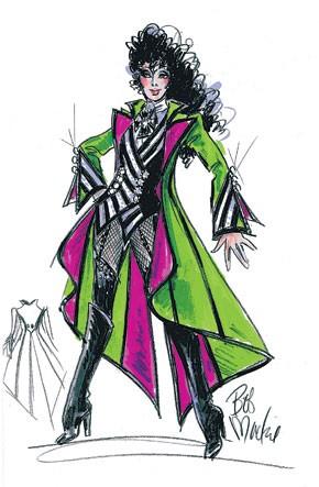 A Bob Mackie sketch for Cher.