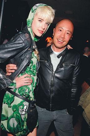 Agyness Deyn in Jeremy Scott with Derek Lam at the Soho Grand.