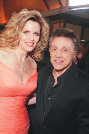 Nancy Davis and Frankie Valli