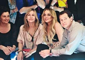 Lindsay Lohan at the Fornarina Urban Beauty Show Monday.