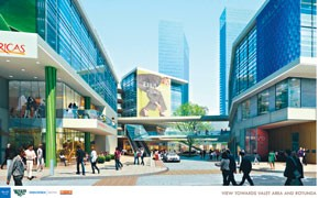 A rendering of the 500,000-square-foot BLVD Place project under construction.