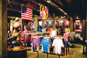 The new Under Armour shop in Aurora, Ill.