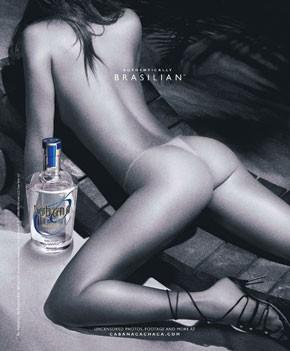 A provocative Cabana Cachaca ad.