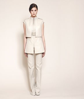 Albert Kriemler's architectural suit for Akris.