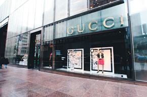 Presales are popular at designer stores such as Gucci.