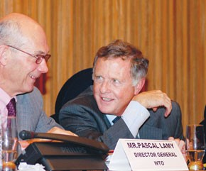 WTO director-general Pascal Lamy and Peter Allgeier.