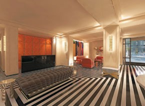 A rendering of the new Mark Hotel lobby in New York.