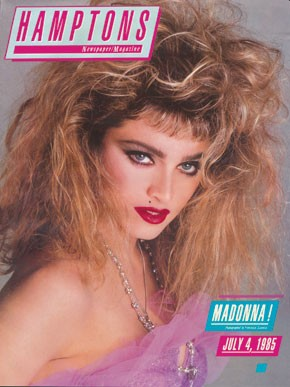 Hamptons Magazine cover featuring Madonna from 1985.