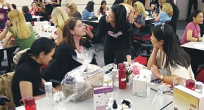 Consumers took a hands-on approach at a training session hosted by Sephora.