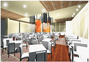 A rendering of Charlie Palmer's restaurant at Bloomingdale's.