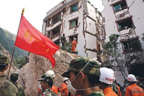 Rescue teams have been searching the rubble of affected areas.