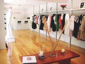 The interior of Erin Snow's new 800-square-foot store.
