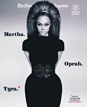 Tyra Banks on the cover of The New York Times Magazine.