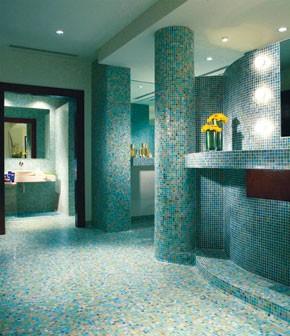 Inside Acqua di Parma's spa.
