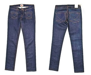 A pair of Collection 100 jeans.