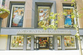 American Eagle Outfitters Inc. saw a 44.3 percent decrease in first-quarter earnings to $43.9 million, or 21 cents a diluted share.