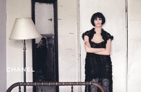 Claudia Schiffer in Chanel's fall campaign.