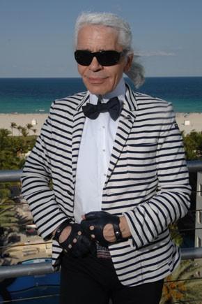 Karl Lagerfeld in Miami.