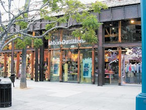 Urban Outfitters' inventories declined on a per-square-foot basis.